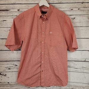 Ariat Pro Series Orange Vented Button Down Shirt